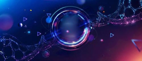 光效基因链科技背景图