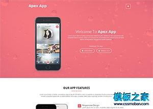 粉红色App开发公司html5模板