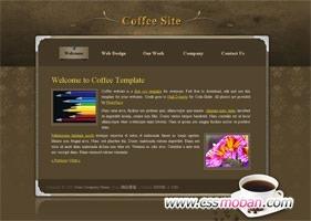 简单的咖啡网站模板