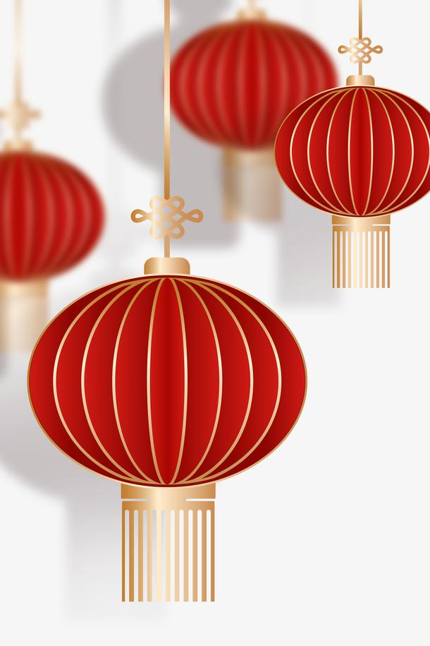 古典春节红灯笼