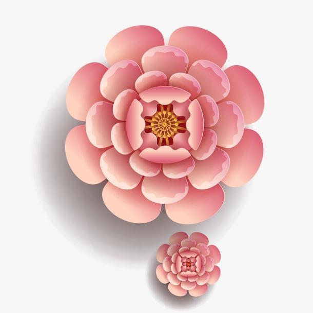 立体手工剪纸花朵