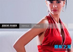 灰色大气Flash女性服装官网html模板