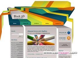 3d企业网站CSS模板