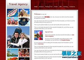 简单的旅行运动滑雪网站模板