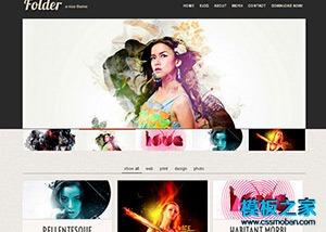 摄影公司扁平化HTML5网站模板