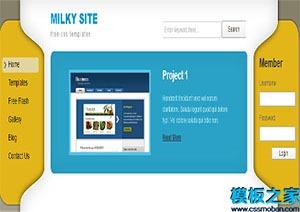 简约多列布局网站html模板