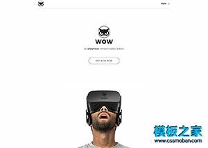 简洁虚拟VR产品项目官网模板