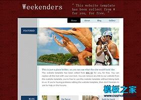 休闲运动企业网站CSS模板