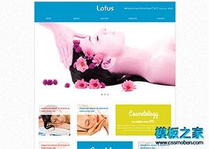 美容护肤spa休闲html5网页模板