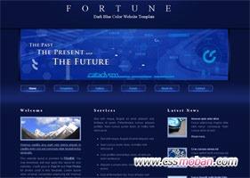 深蓝色企业网站模板