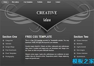 黑色三列web网站模板设计