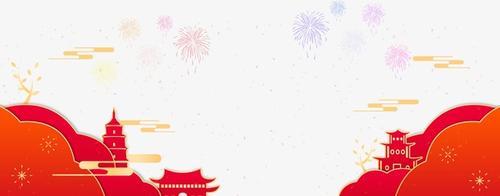 2021烟花喜庆节日背景