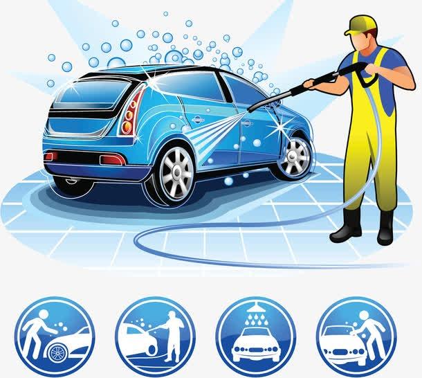 洗车服务图标海报素材