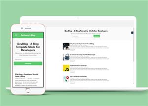 绿色左栏简洁个人主页博客网站模板