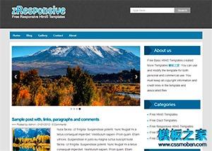 蓝色斜纹博客网站模板