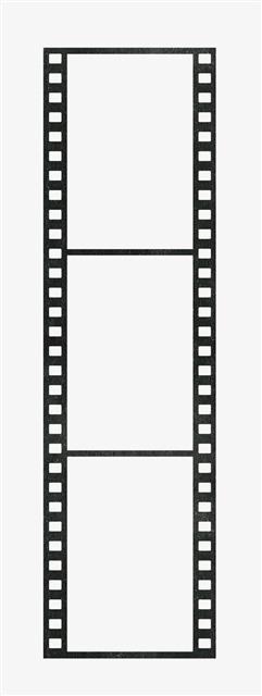 黑色电影胶卷边框