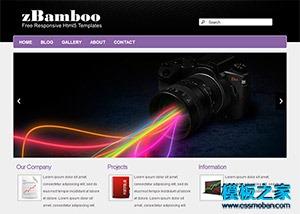 紫色大图幻灯响应式手机模板