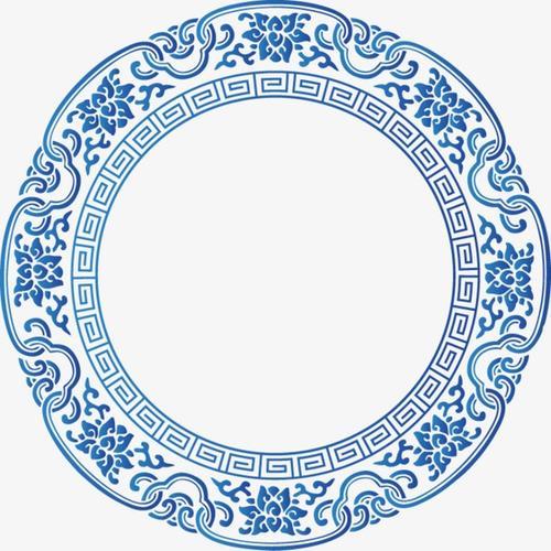 青花瓷花纹装饰