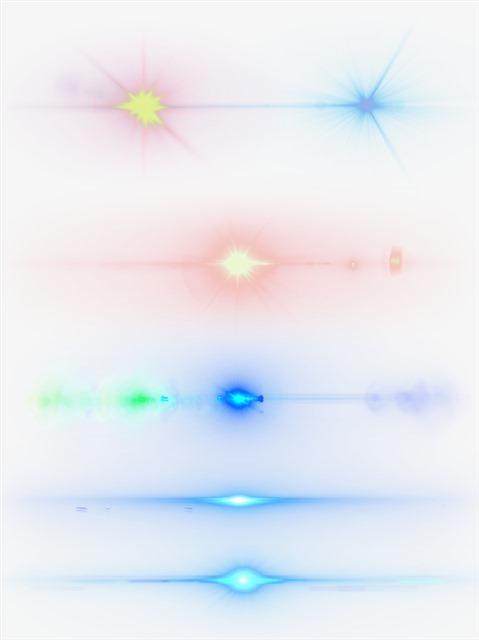 各种彩色光线光效元素