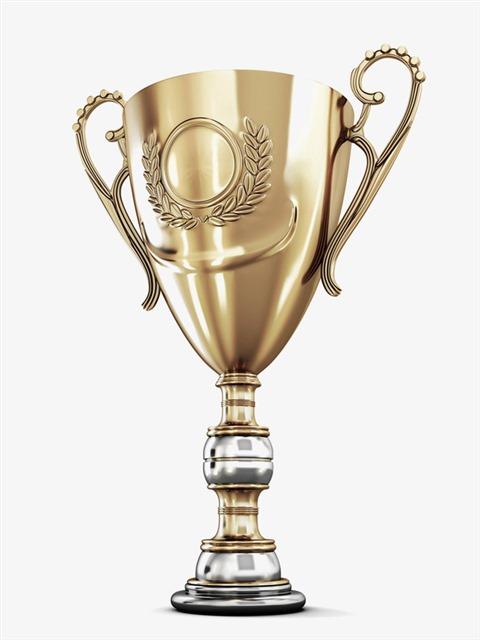 卡通金色奖杯png元素