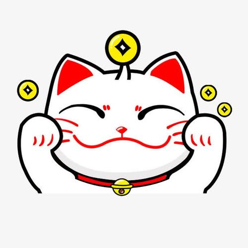 卡通招财猫头像