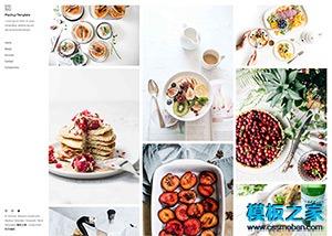 简约美食摄影工作室网站html5模板
