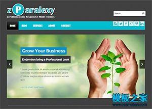 黑色大气商务PC网站模板