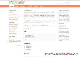 企业博客导航页网站模板