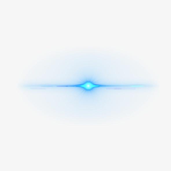 蓝色科技光线免抠元素