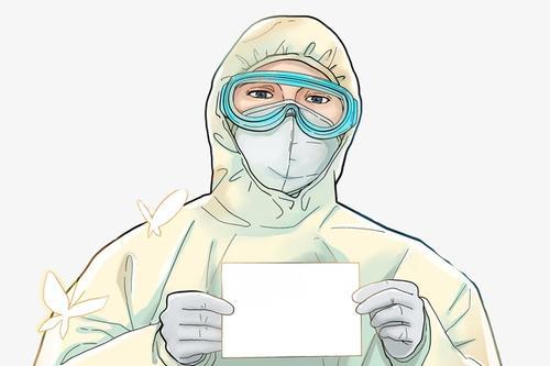 卡通抗疫医护人员图片
