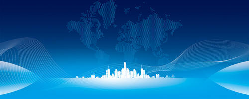 2021年蓝色科技风年会背景图