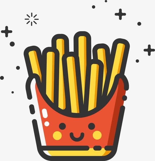 薯条手绘图