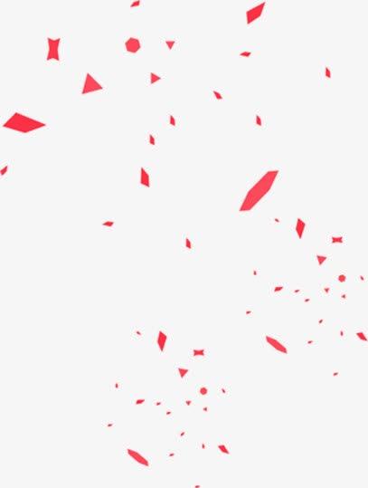 红色漂浮彩纸元旦装饰