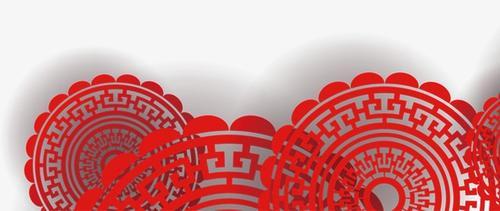 元旦新春剪纸元素