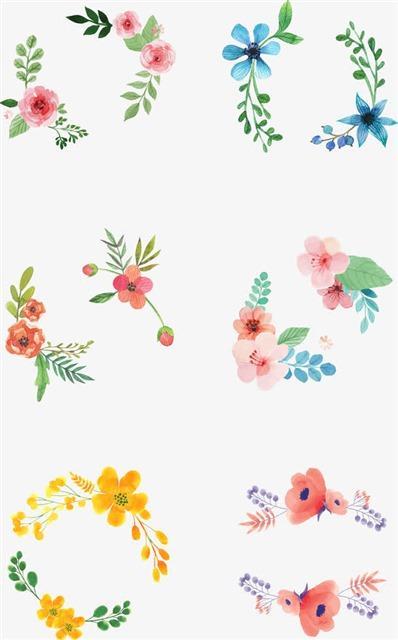小清新花卉植物边框设计