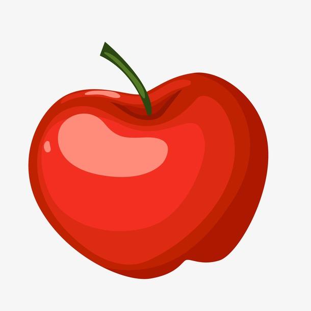 卡通手绘红苹果