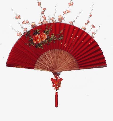 中国风扇子装饰