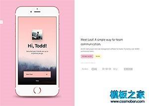 粉色app软件应用下载官网页面模板
