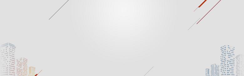 城市剪影灰白色科技背景图