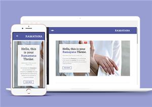 深蓝色美食博客html程序网站模板
