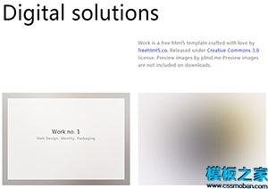 白色时尚引导式网站html5模板