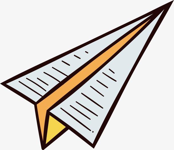 卡通折纸飞机