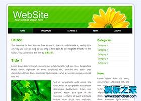 圆角绿色向阳花博客模板