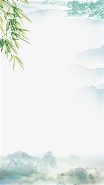 中国风山水水墨边框