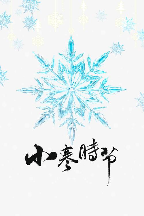 小寒节气雪花元素