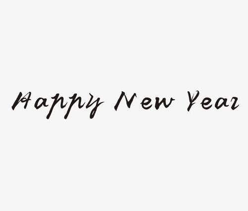HAPPY NEW YEAR英文字体