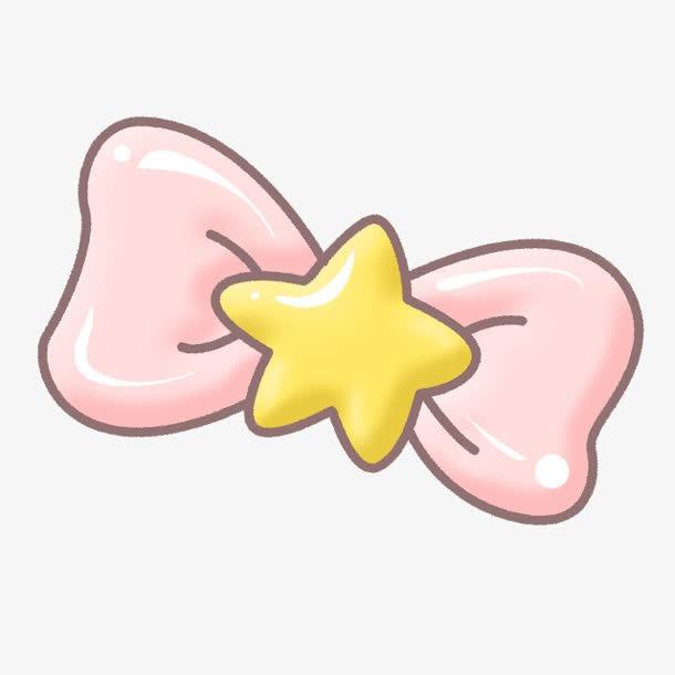 卡通粉色蝴蝶结
