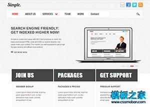 简洁大气企业网站模板