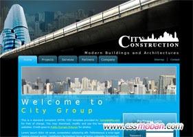城市建筑css模板