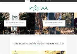 kalaa个人博客html5模板